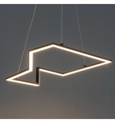 Black futuristic pendant light - Moca