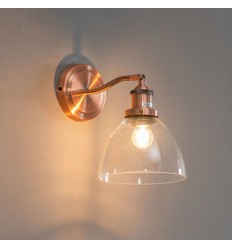 interior wall light vintage glass and copper - Flavia