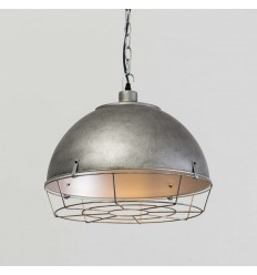antique gray industrial pendant light - Zane