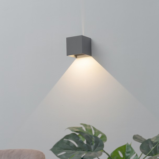 LED wall cube - Cubic gris