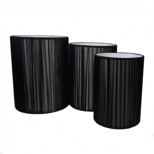 Lampshade - black design H18 cm - Geneix