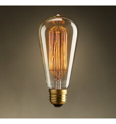 Bulb E27 incandescent filament - Blanc chaud