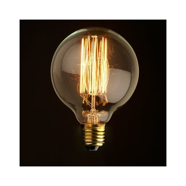 Round incandescent bulb E27 40W - warm white