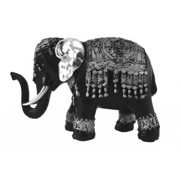 Figurine - black and silver elephant – Small size