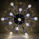 Ceiling light - design blue LED Tulipe 80cm
