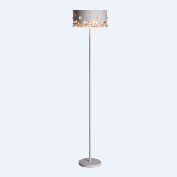 Floor lamp - design crystal/metal Beline