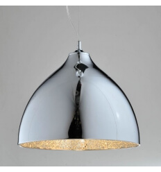 Pendant light - design chrome/glass Tania