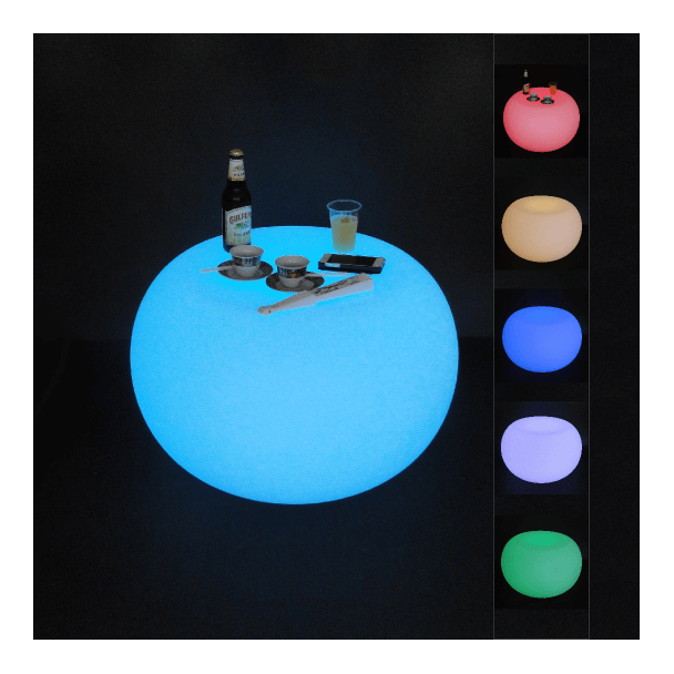 Illuminated table LED multicolour RGB with remote
