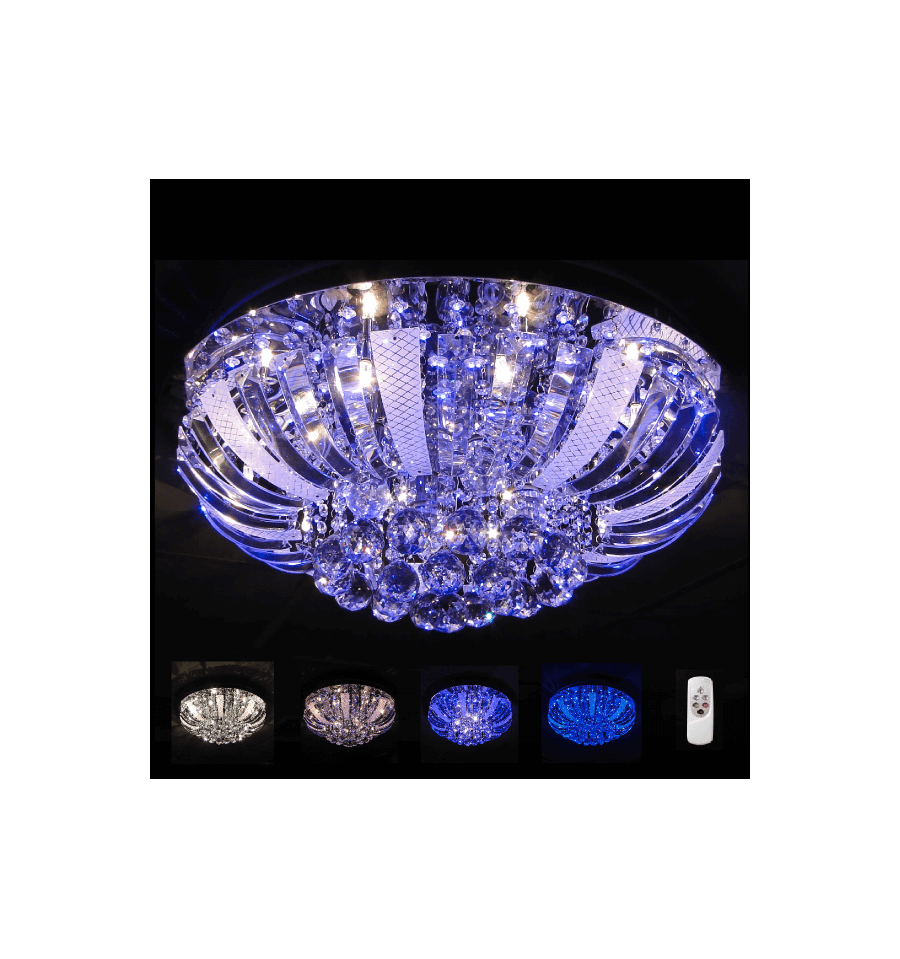 Crystal Ceiling Light Fitting Led Las Vegas 60 Cm