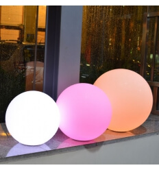 Illuminated ball 50cm LED wireless waterproof rechargeable