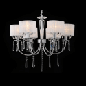 Chandelier - 6 Light chrome/crystal Elise