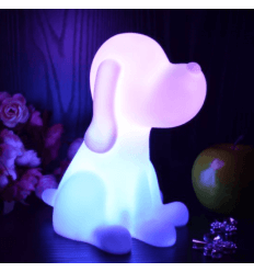 Table lamp - dog LED cordless multicolours