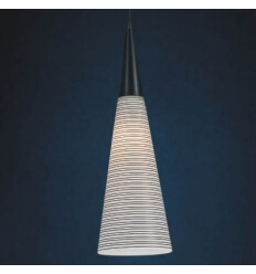 Pendant light - glass conical black and white