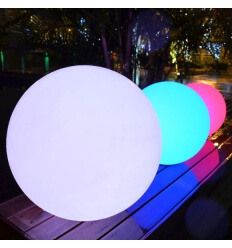 Illuminated ball 35cm LED wireless waterproof rechargeable