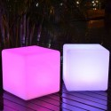 Illuminated Cube 40cm LED multicolour RGB with remote