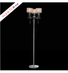 Floor lamp - chrome/crystal (E14) Elise