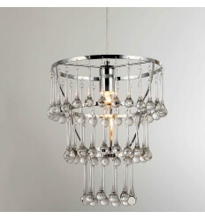 Pendant light - design chrome + glass Freya