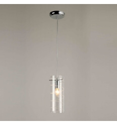 Pendant light - design tube glass unique (E14) Edell