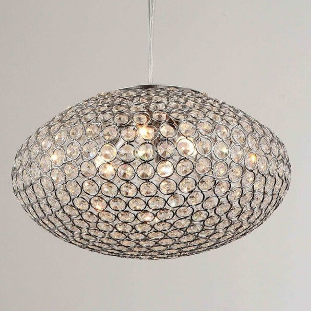 Pendant light - crystal elliptic (G9) Universe