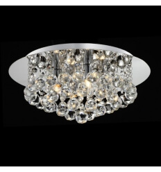 Ceiling light - chrome and crystal Aurora