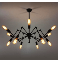 pendant light design vintage 12 arms - Spider
