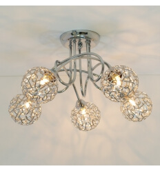 Ceiling light - design 5 spheres Aphyse