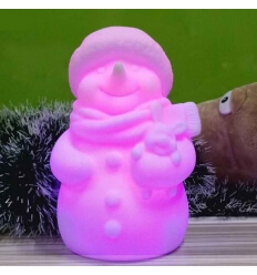 Snowman - LED illuminated multicolours