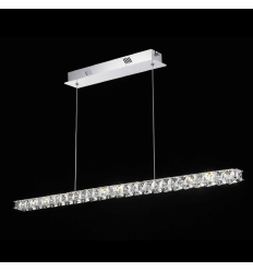 Pendant light - crystal LED horizontal bar design - Kirn