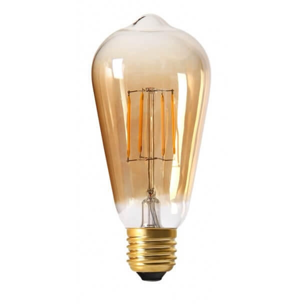 Incandescent bulb LED 4W E27 - amber glass Warm white