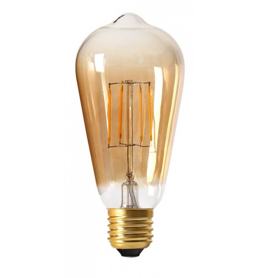 Incandescent Bulb LED 4W E27   Amber Glass Warm White