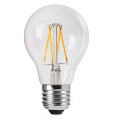 Incandescent bulb LED 4W E27 - transparent glass Warm white