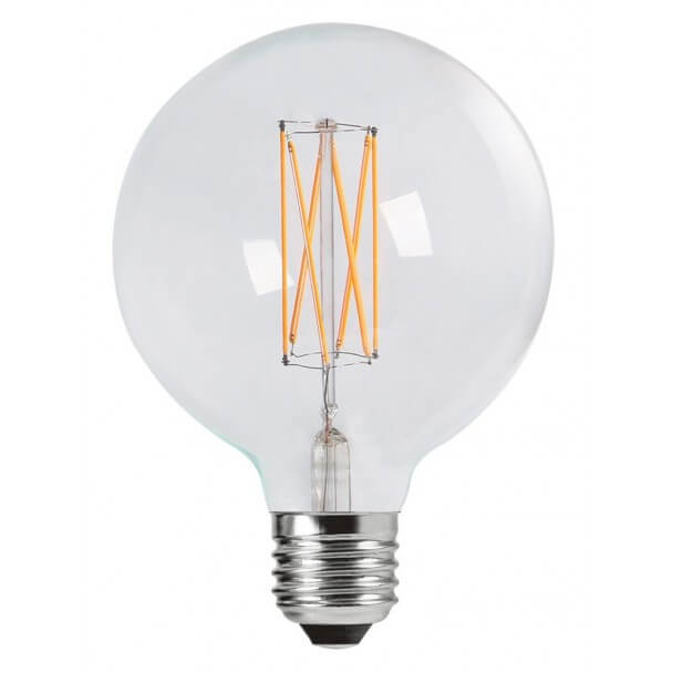 Incandescent bulb LED 4W E27 - transparent glass globe Warm white