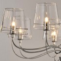 Chandelier - baroque design 8 Light transparent glass (8xG9) - Matane