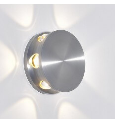 Wall light - LED round aluminium silver small rounds - Kina