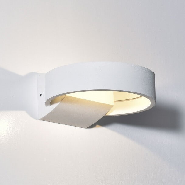 Wall light - LED aluminium circle white - Arca