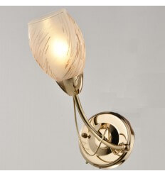 Wall light - gold glass painted - Lena