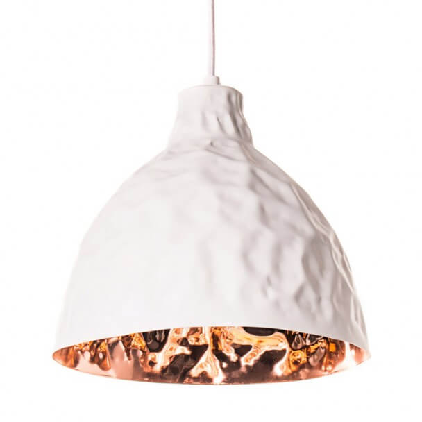 Pendant light - copper white design - Talia