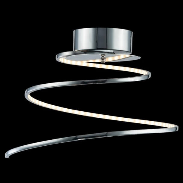 Light design led chromed spiral looper ceiling light design led chromed spiral looper aloadofball Choice Image