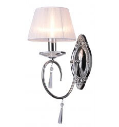 Wall light - baroque crystal/chrome Lumyse