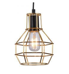 Pendant light - metal design gold - Fera