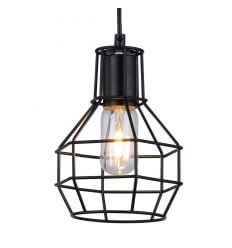 Pendant light - metal design black - Fera