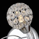 Wall light - simple crystal/chrome curved - collection Callopa
