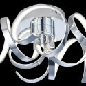 Ceiling light - design LED chromed silver (30 W)- Zig