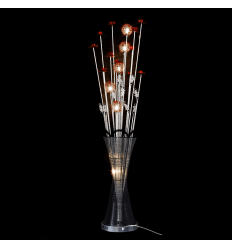 Large aluminum LED lamp flower vase - Marta
