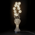 Large aluminum LED lamp flower vase - Clea