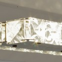 Wall light - crystal LED horizontal bar design - Kirn