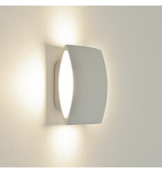 Wall light - LED square aluminium white design - Bowa