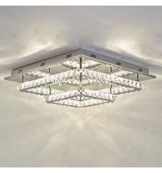 Ceiling light - LED crystal 2 squares design - Wade