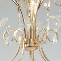 Pendant light crystal gold - Pavia
