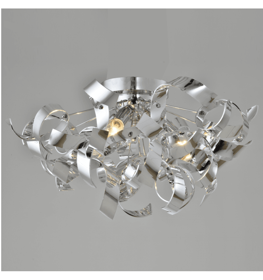 Modern ceiling light curved curly kosilight